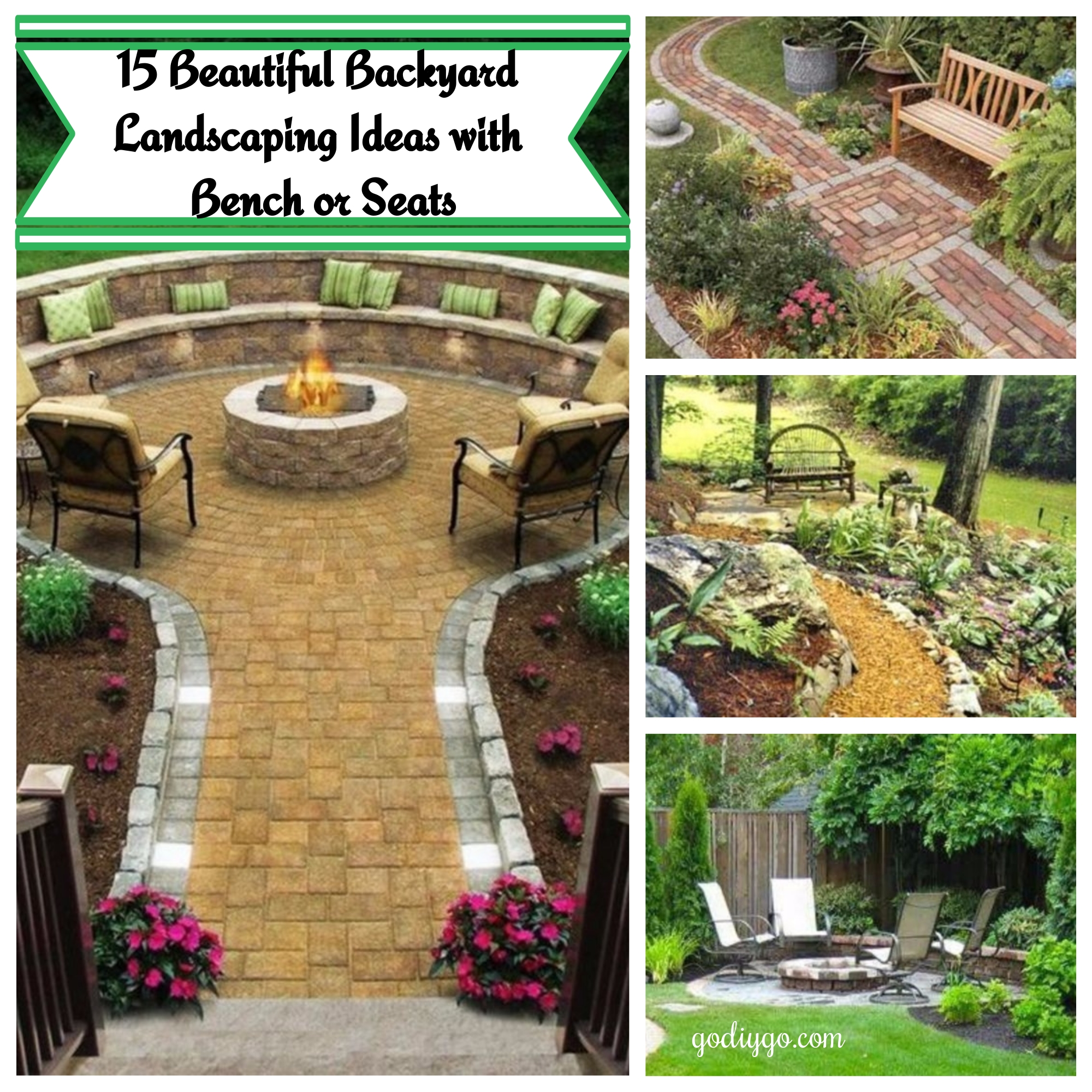 15 Beautiful Backyard Landscaping Ideas With Bench Or