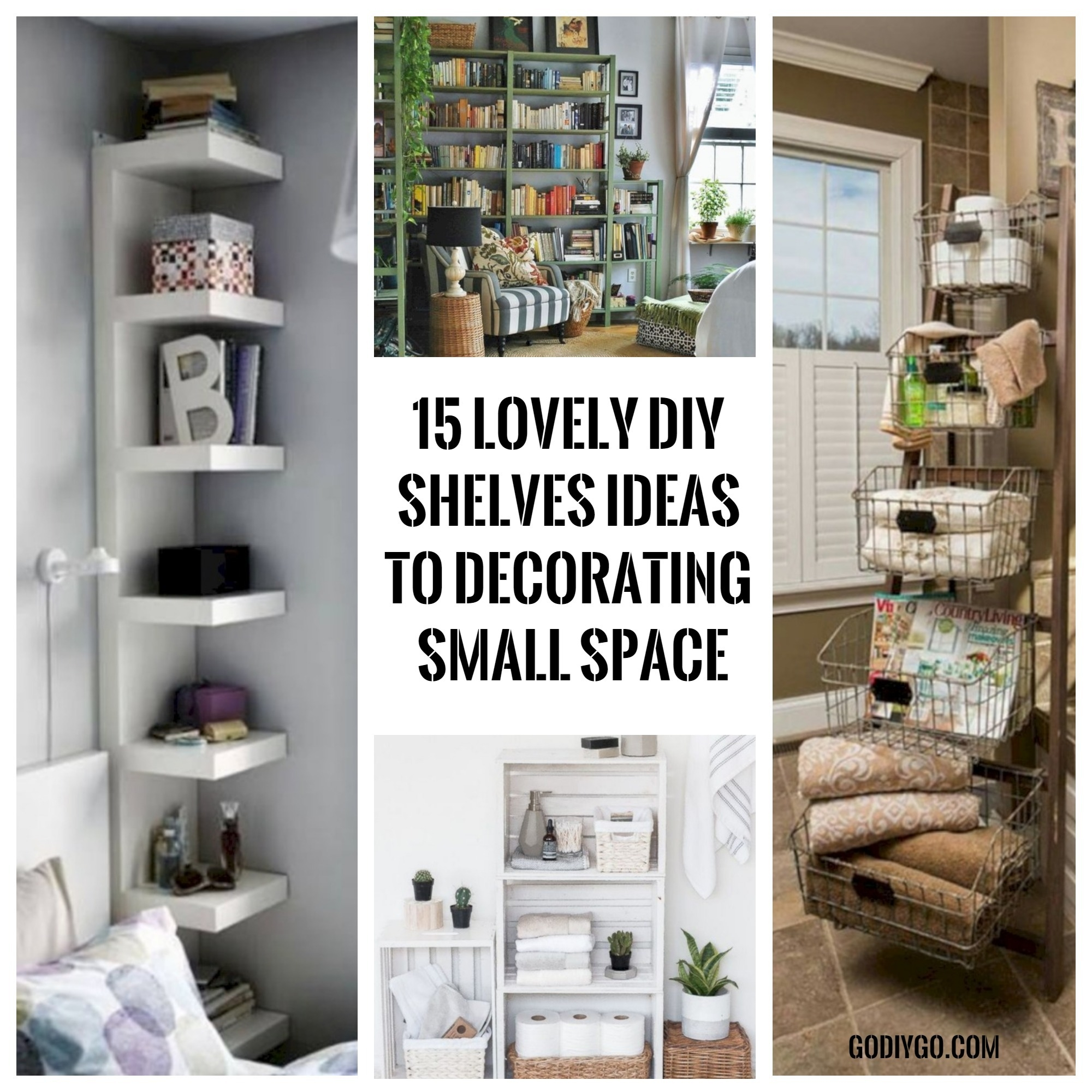15 Lovely DIY Shelves Ideas to Decorating Small Space ...