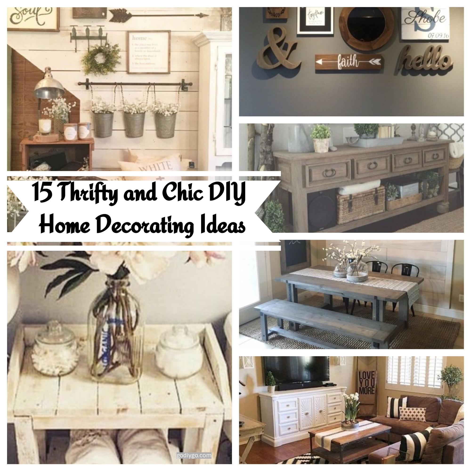 Home Design Ideas Decor: 15 Thrifty And Chic DIY Home Decorating Ideas