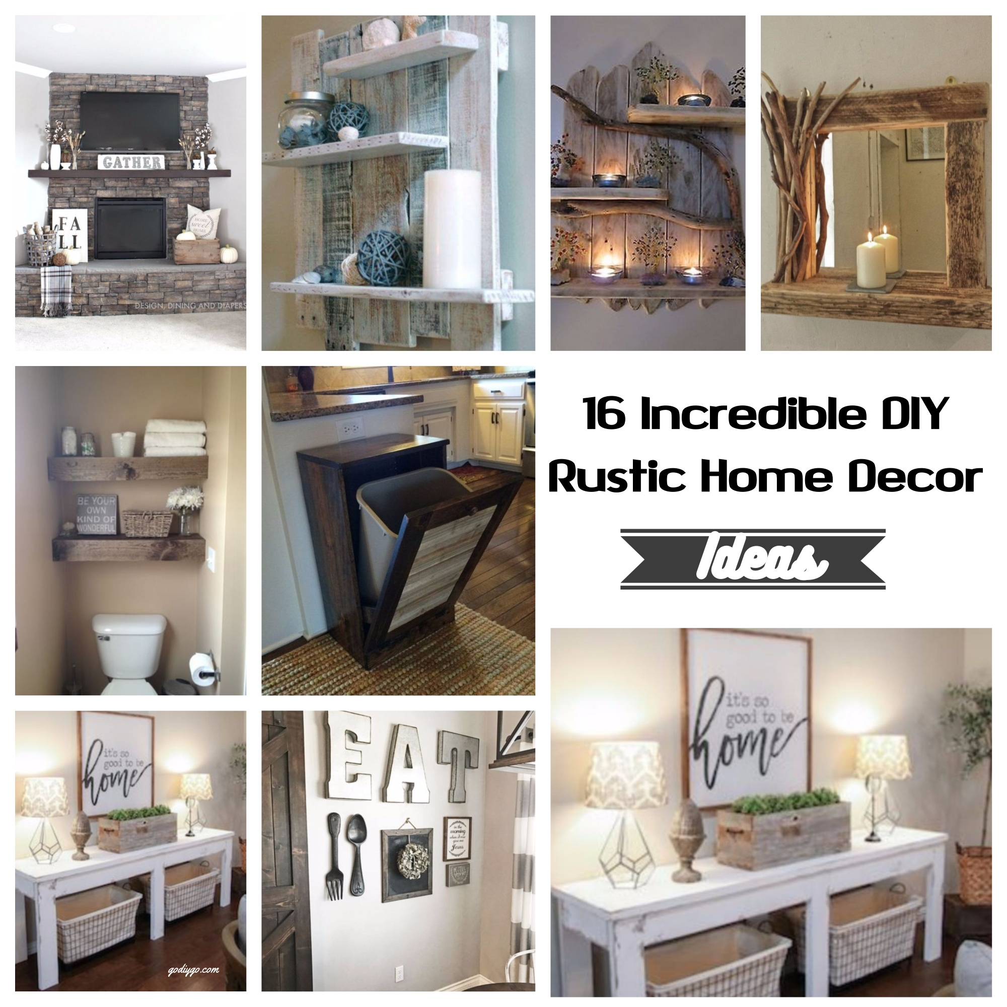 Rustic Decor Ideas Diy: 16 Incredible DIY Rustic Home Decor Ideas
