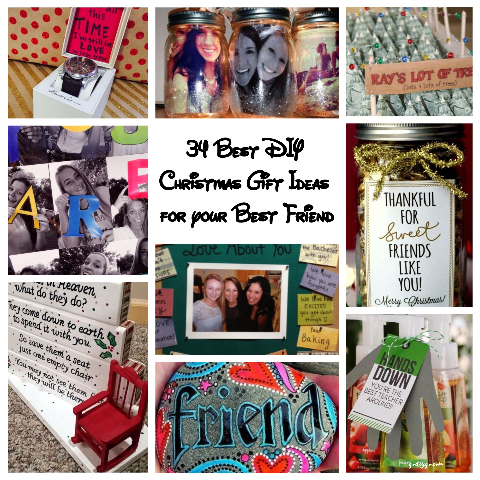 34 best diy christmas gift ideas for your best friend Christmas ideas for your best friend