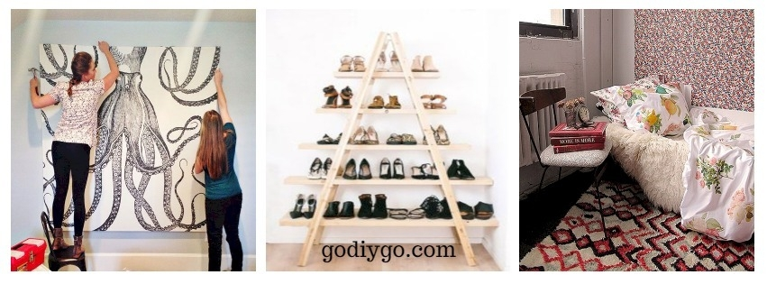 34 diys you need for your first apartment godiygo com. Black Bedroom Furniture Sets. Home Design Ideas