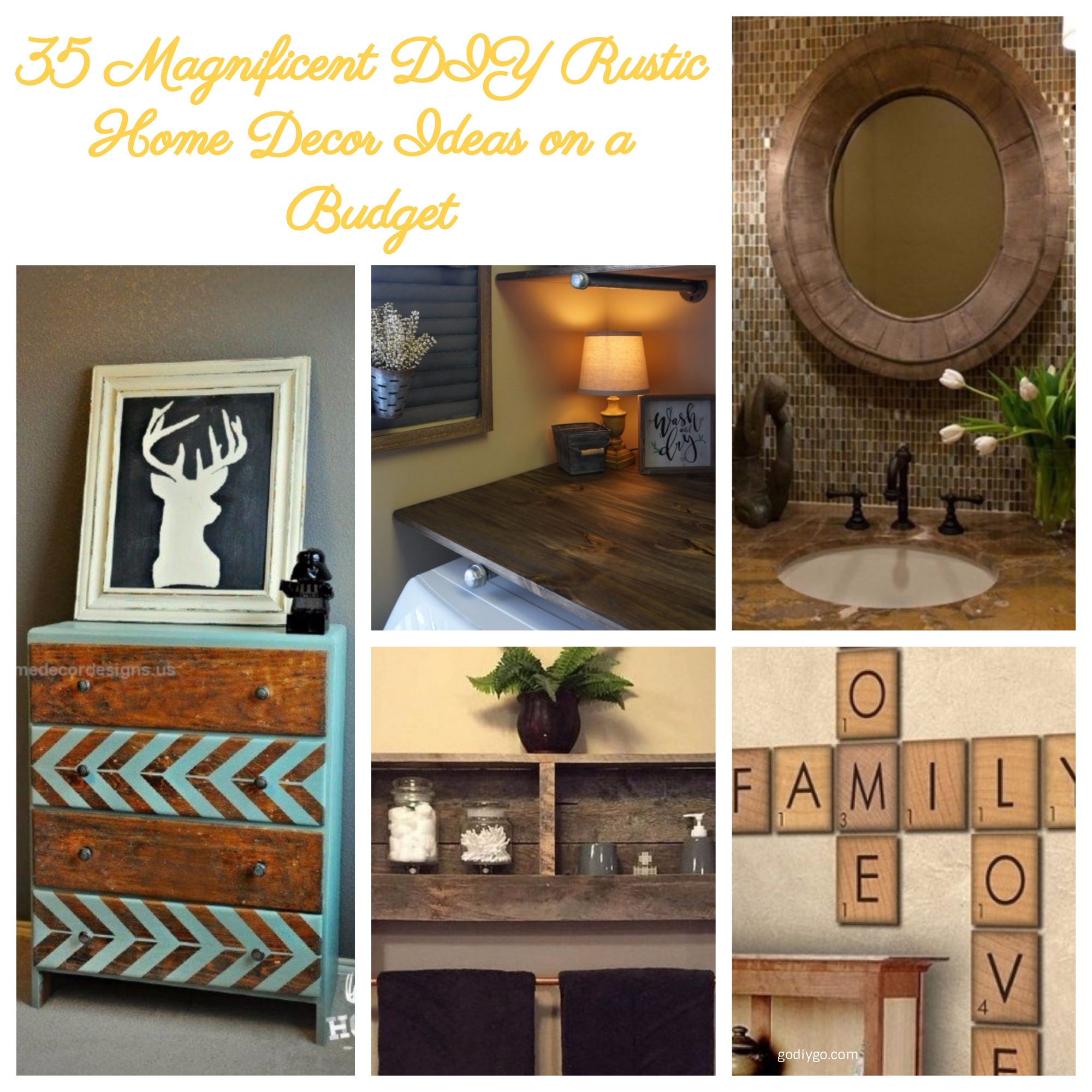 35 magnificent diy rustic home decor ideas on a budget godiygo com Diy ideas for home design