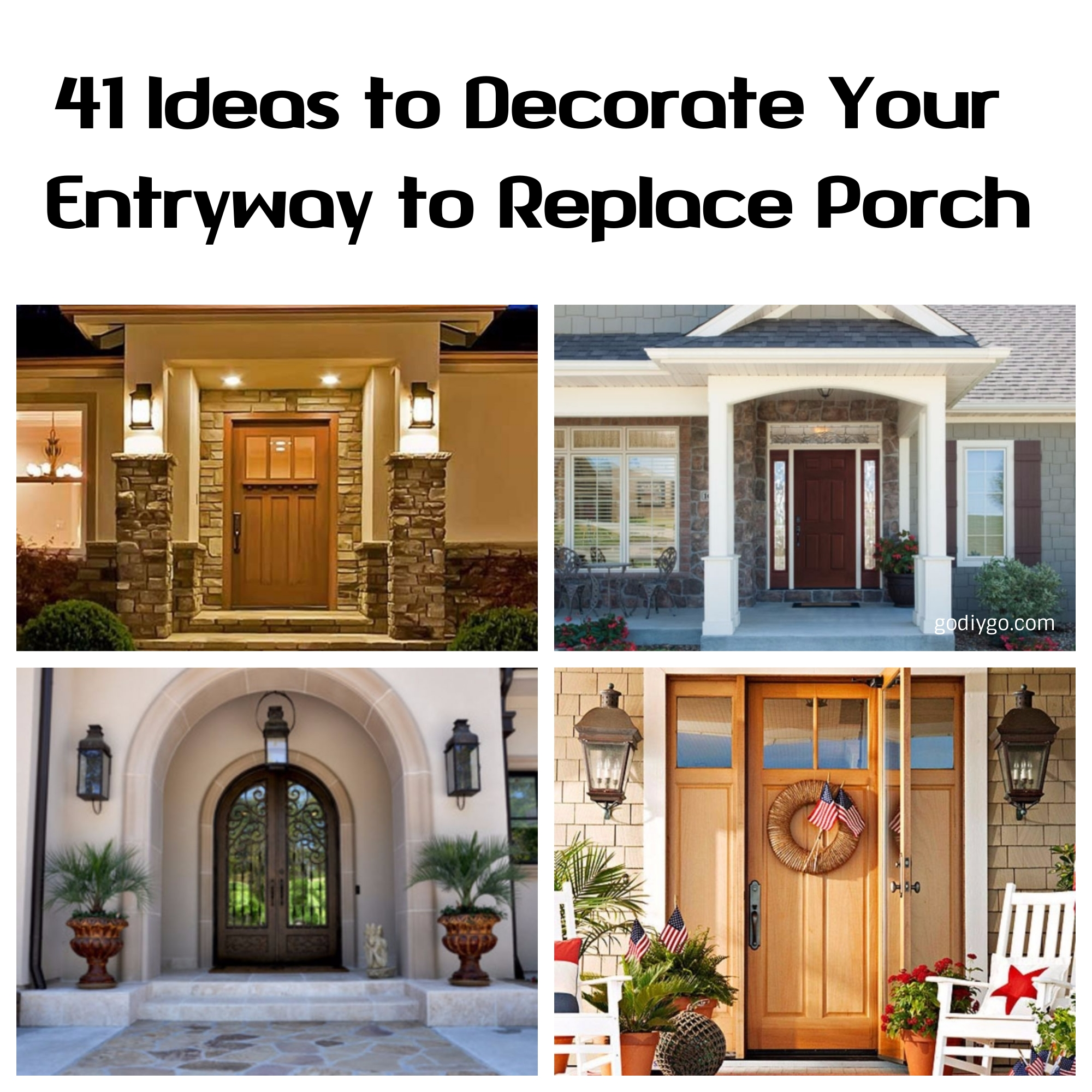 40 Entryway Decor Ideas To Try In Your House: 41 Ideas To Decorate Your Entryway To Replace Porch