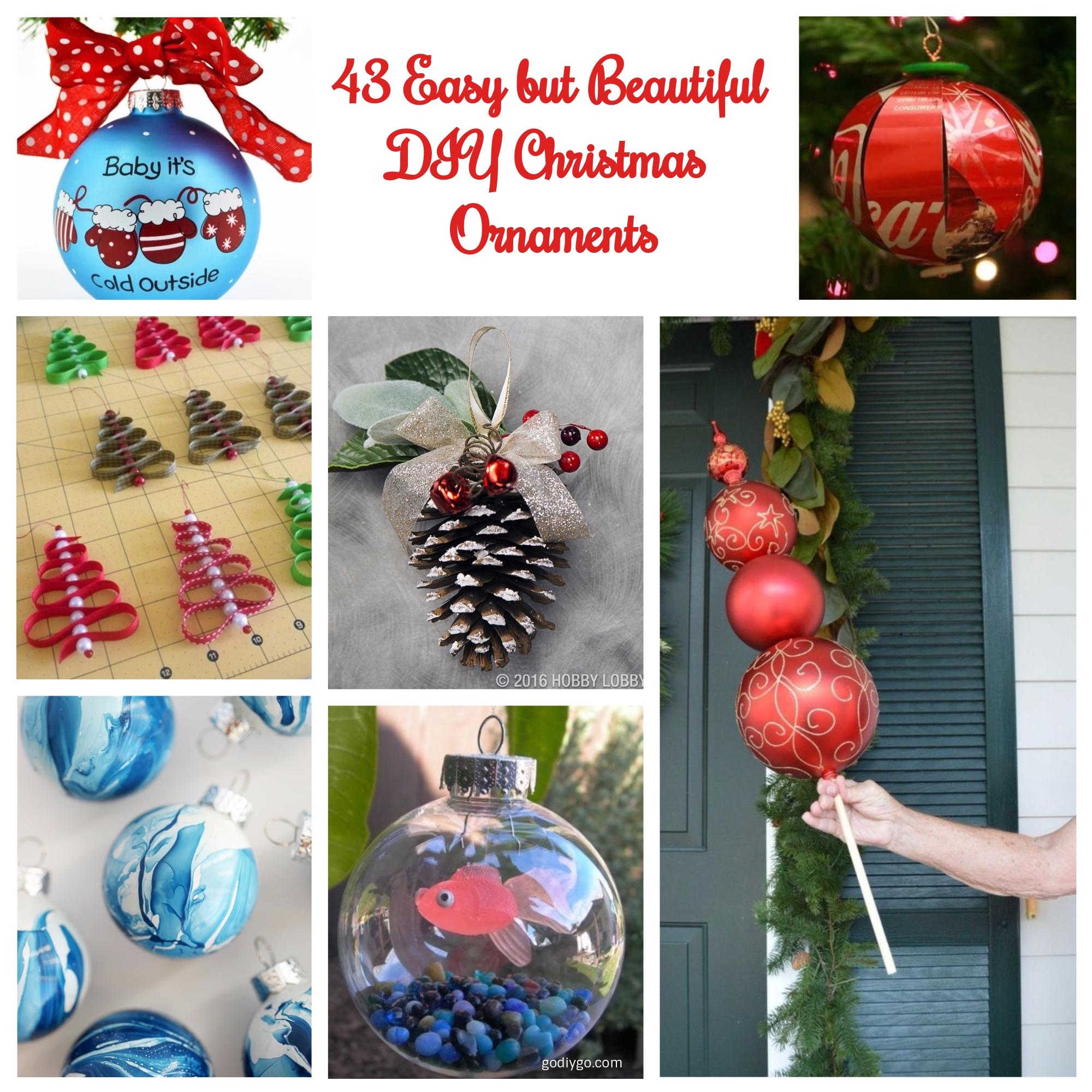 43 Easy but Beautiful DIY Christmas Ornaments - GODIYGO.COM