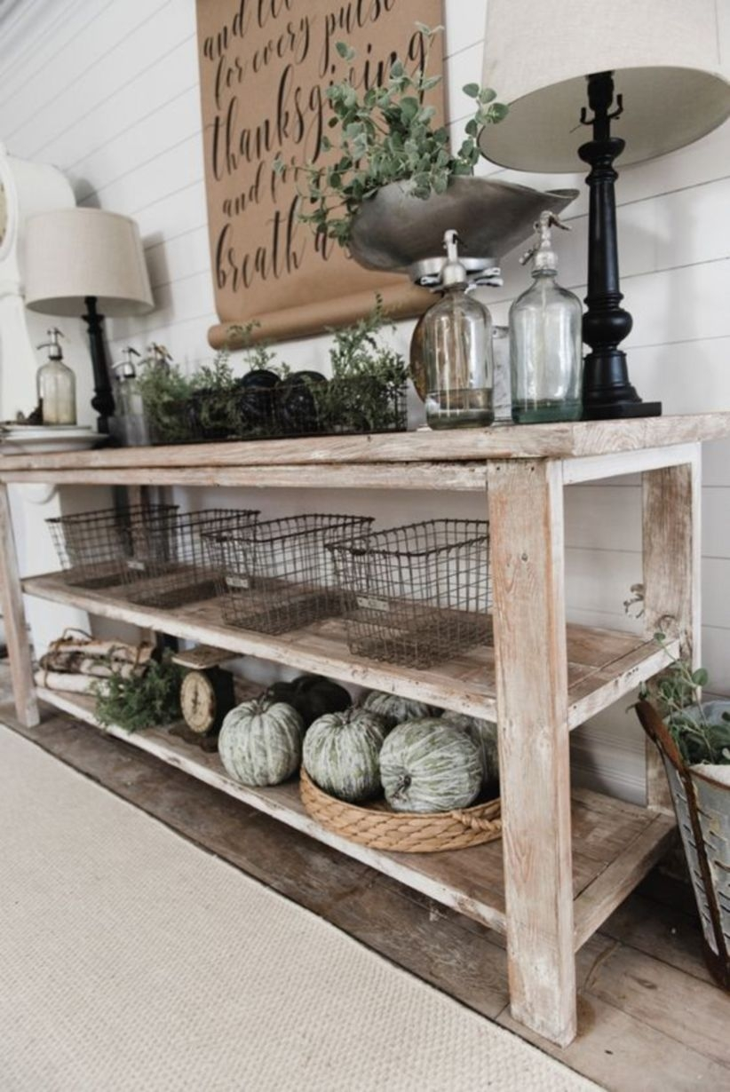 Diy farmhouse style buffet for apartment