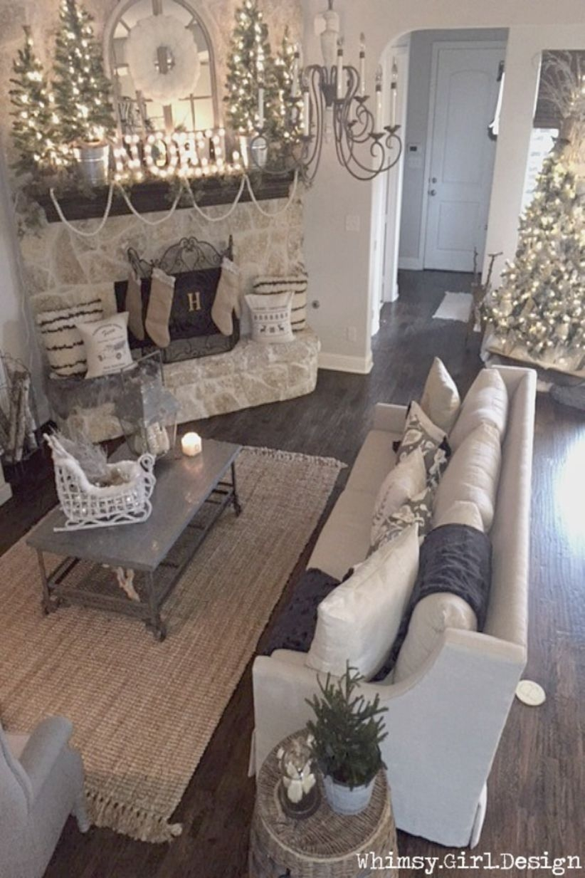 Elegant decorating ideas for white christmas 01  GODIYGO.COM