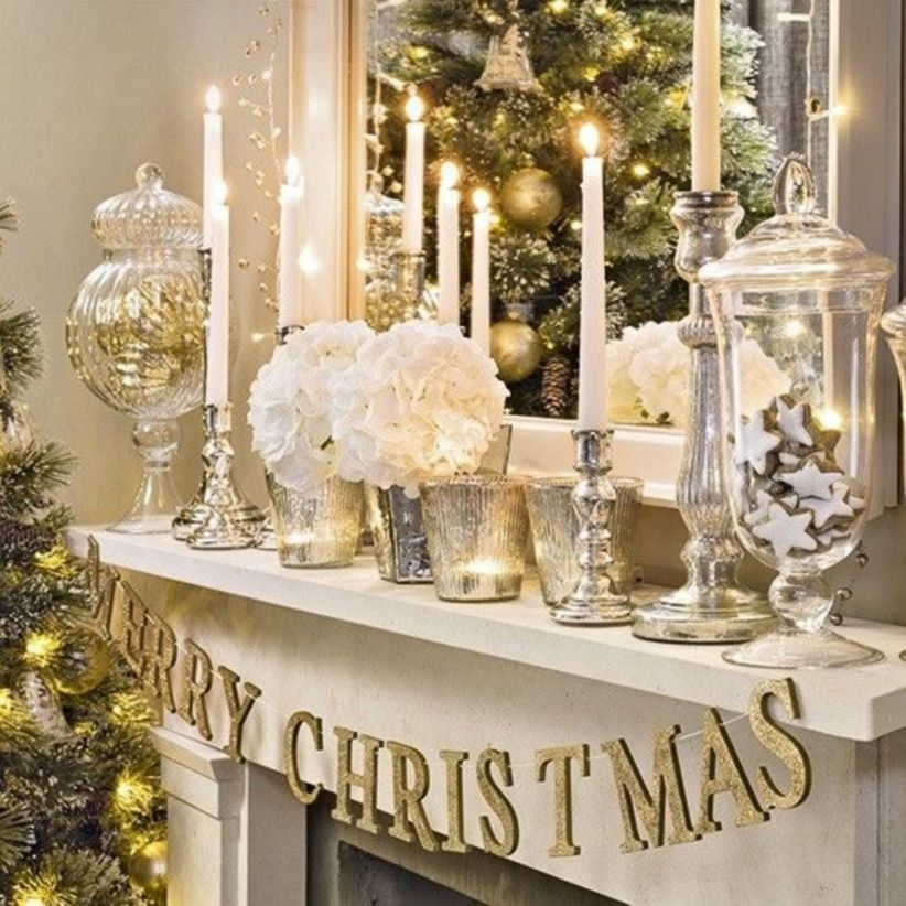 43 Ways To Decorate Fireplace For Christmas