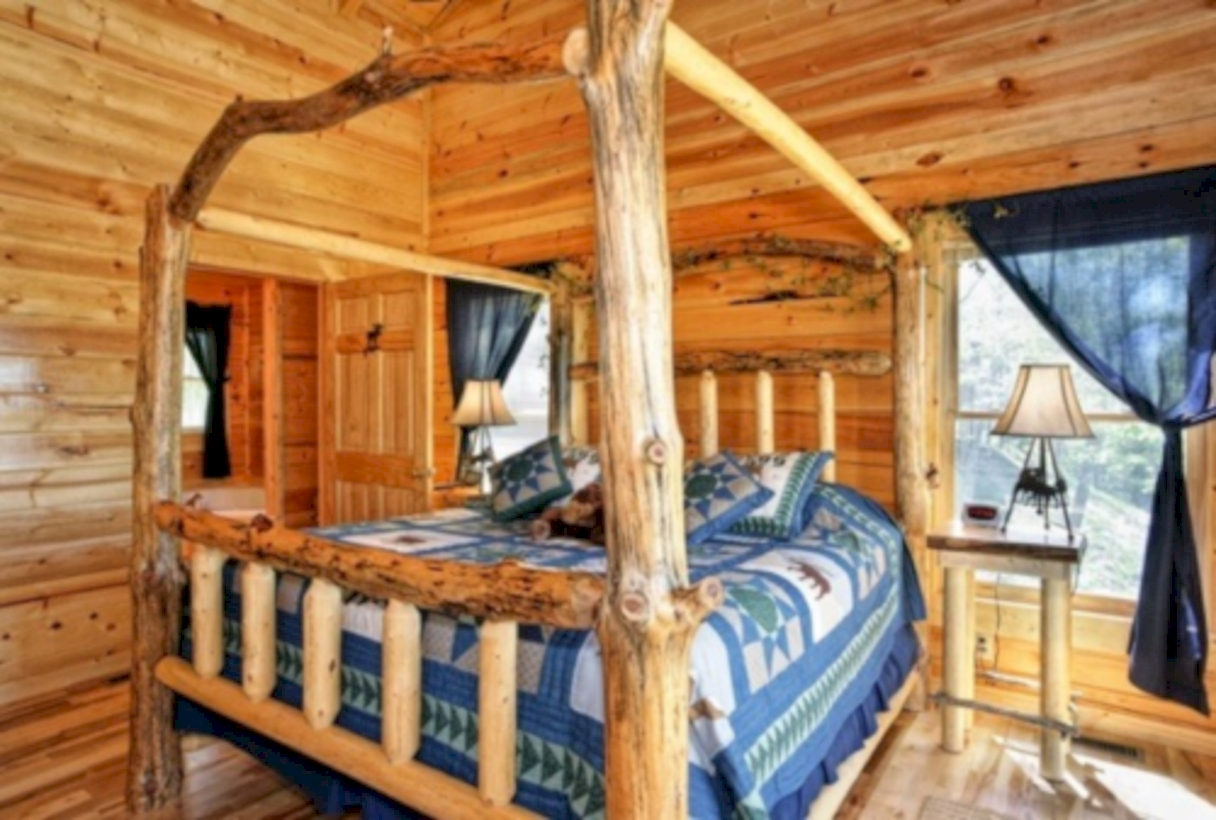 27 creative log cabin themed bedroom for kids godiygo com for Cabin themed bedroom ideas