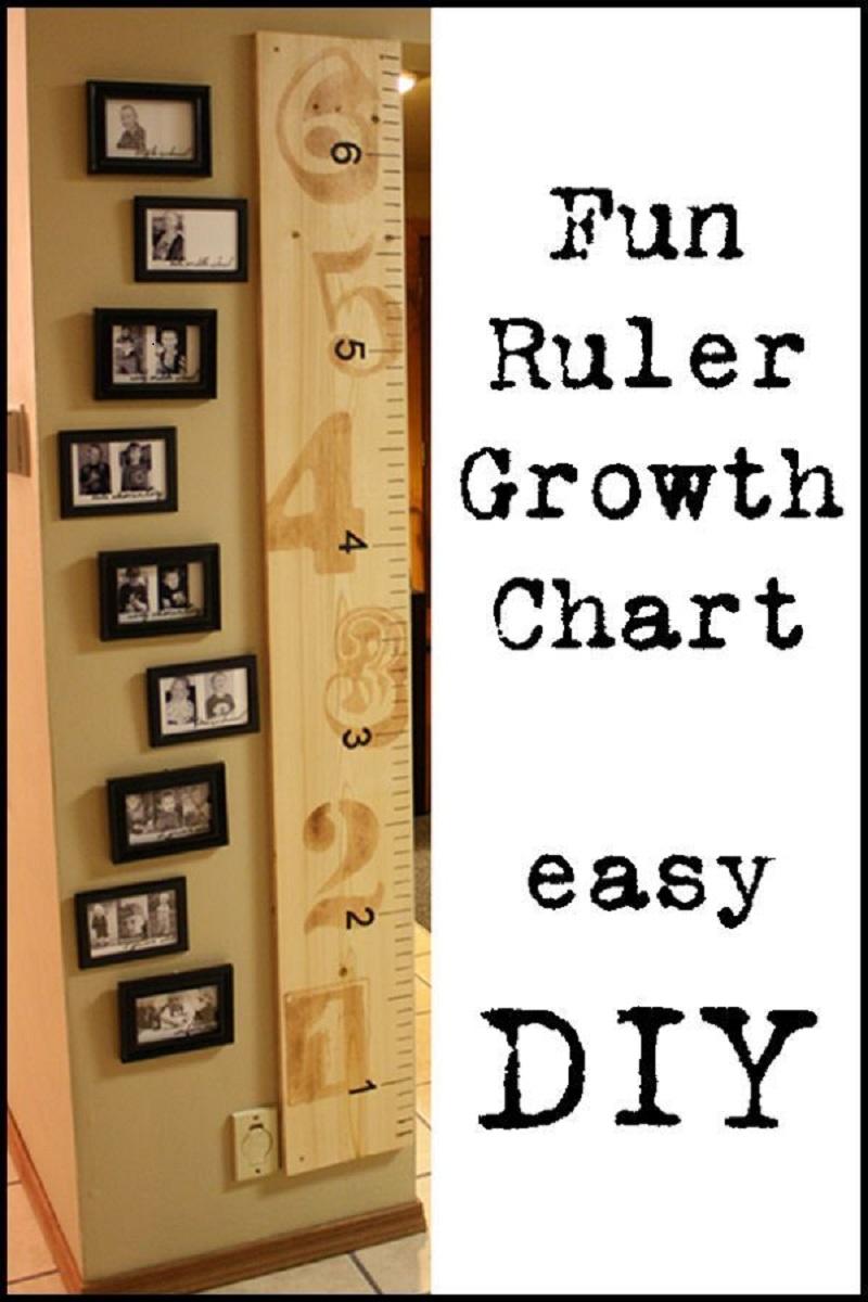 Fun ruler growth chart