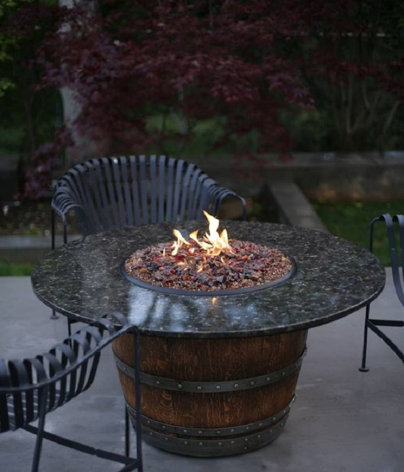 saloon style fire pit