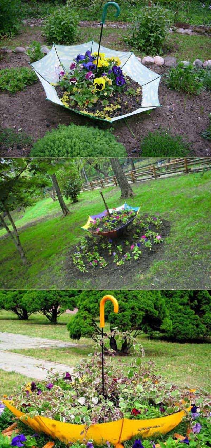 Umbrella garden bed