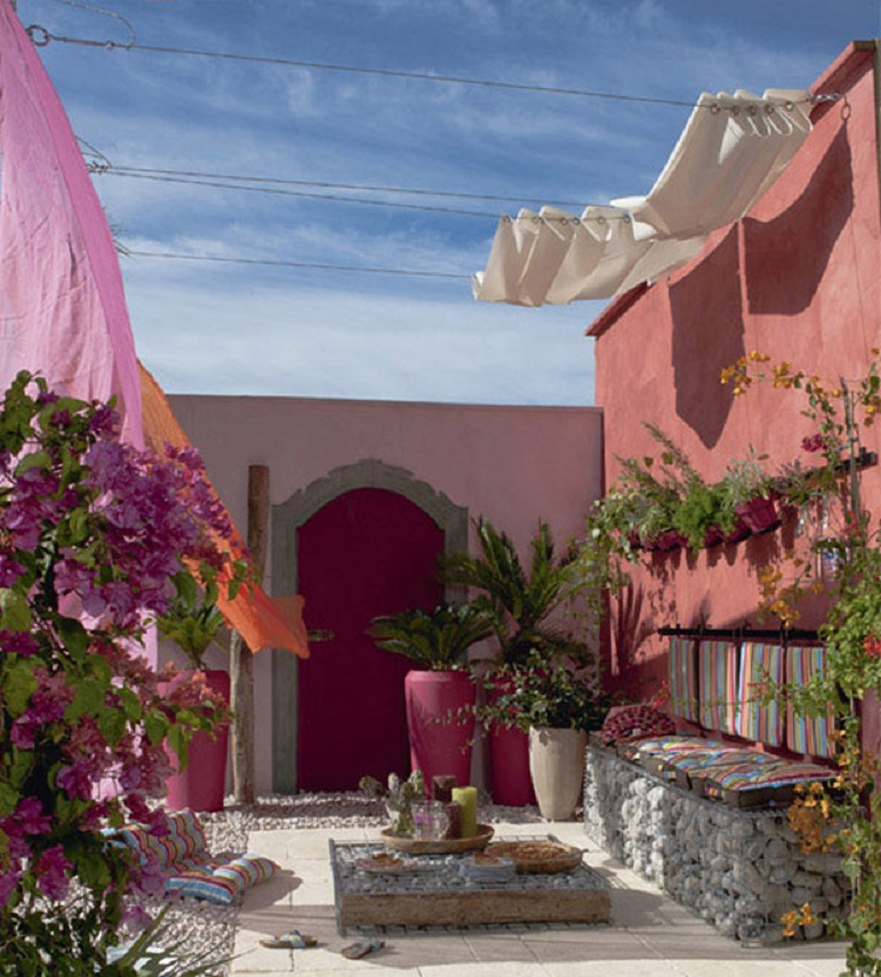 Colorful-outdoor-space