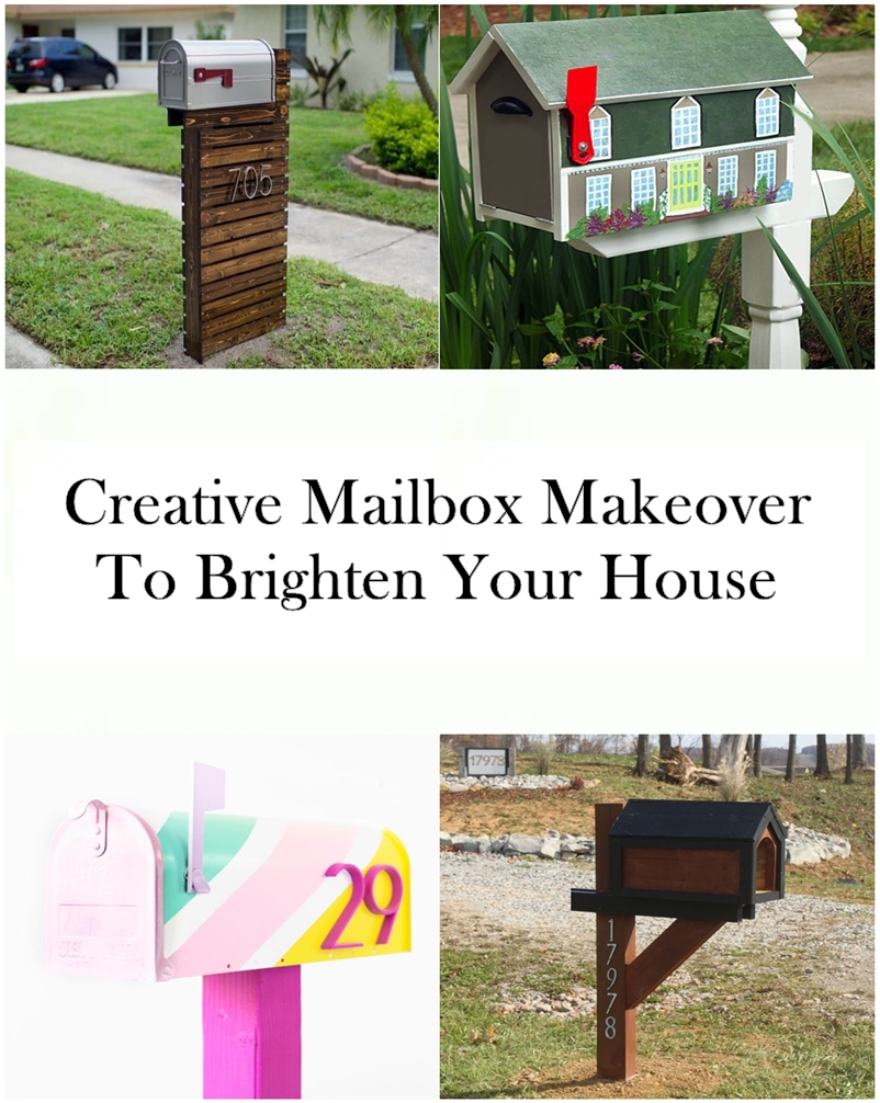 Creative Mailbox Makeover To Brighten Your House Godiygocom