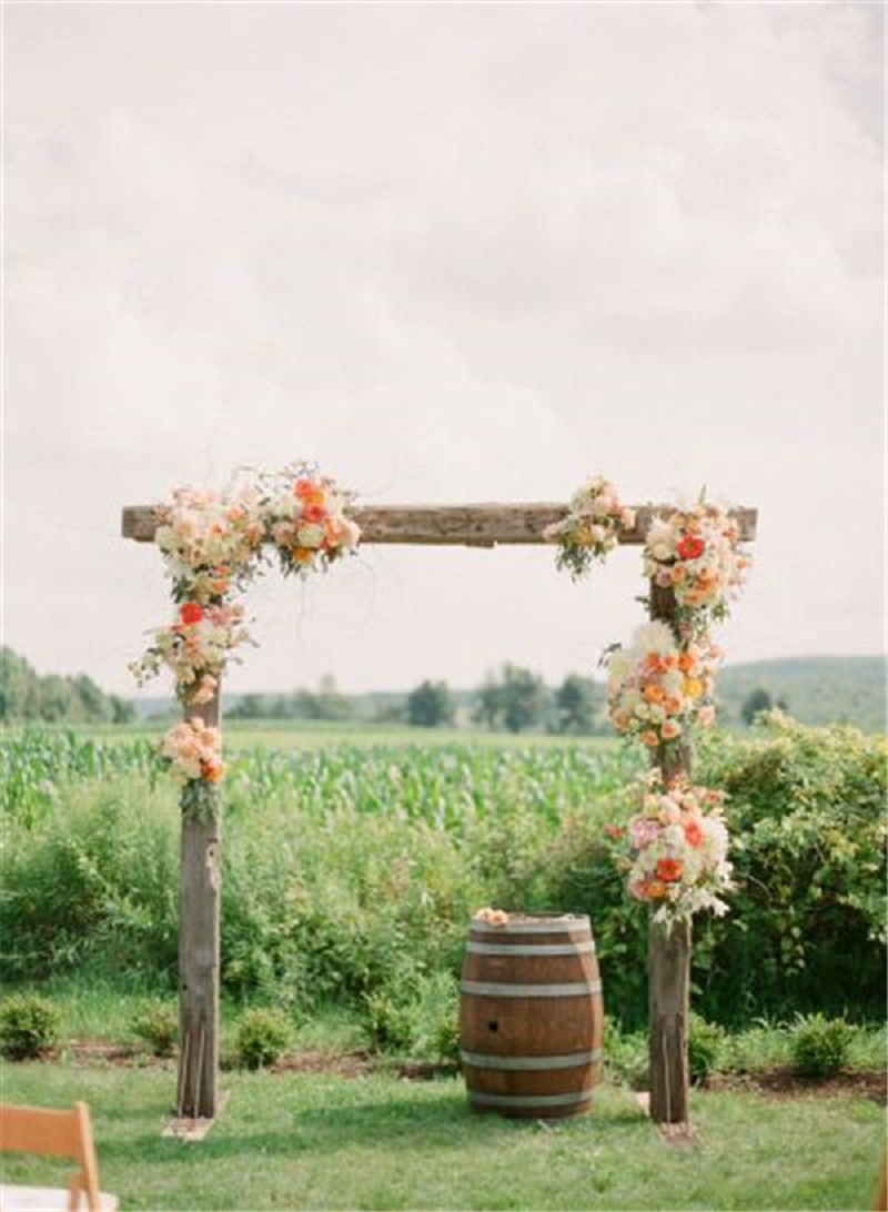 Elegant ithaca farm wedding arch