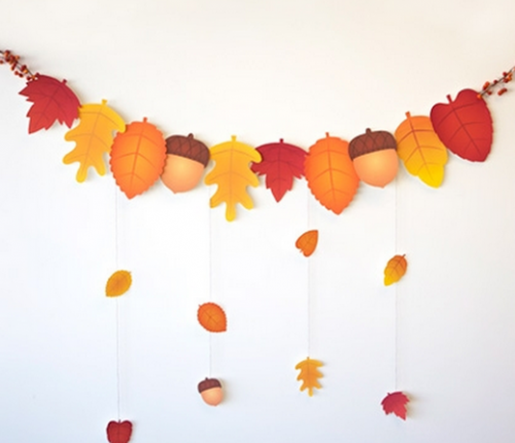 21 delightful diy fall paper craft ideas for your for Addobbi autunnali per l aula