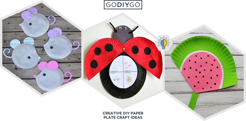 34 Creative Diy Paper Plate Craft Ideas Godiygo Com