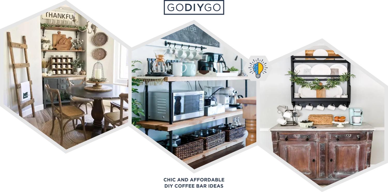 5 Chic And Affordable Diy Coffee Bar Ideas For Minimalist Houses Godiygo Com