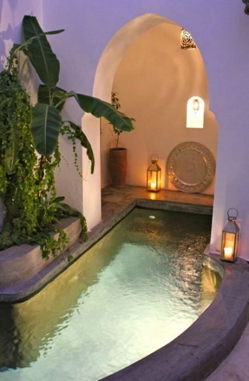 Small boho pool space